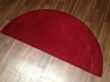 HALF MOON 100% WOOL RUGS NEW SUPER THICK PILE 67CMX137CM RED/WINE LOVLEY RUGS